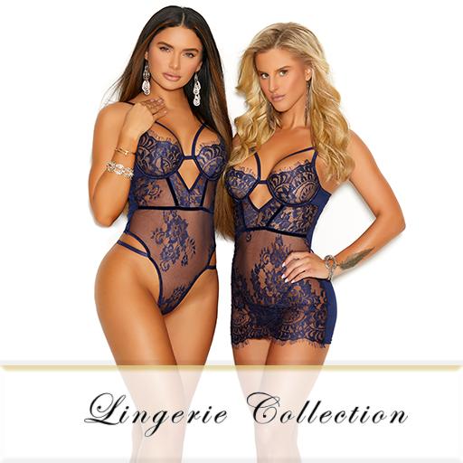 Elegant Moments Lingerie 4 piece Size:ML